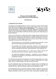 Concept note of the Democracy Round Table ... - International IDEA