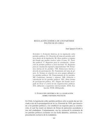 Regulación juridica de los partidos politicos en Chile