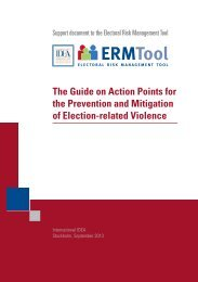 The Guide on Action Points for the Prevention ... - International IDEA