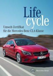 Umwelt-Zertifikat für die Mercedes-Benz CLA-Klasse - Daimler