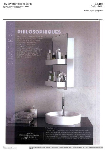 HOME PROJETS HORS SERIE - Idea Group