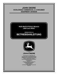 BETRIEBSANLEITUNG - Operator's Manual - John Deere