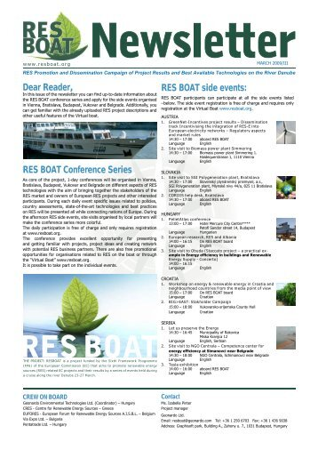 RES BOAT March '09 newsletter - IDEAL Cell