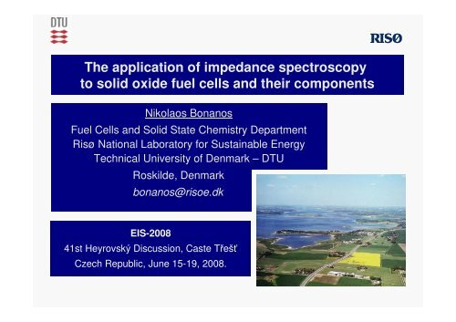 The application of impedance spectroscopy to solid oxide