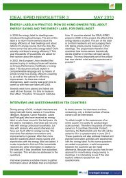 IDEAL EPBD Newsletter 3 general