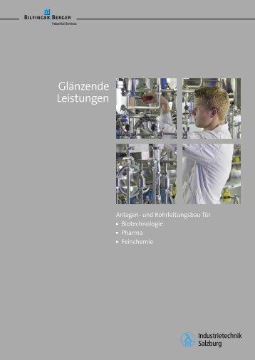 Prospekt (PDF): Anlagen- und Rohrleitungsbau für Biotechnologie