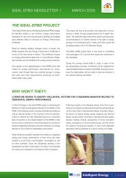 IDEAL EPBD NEWSLETTER 1 MARCH 2009
