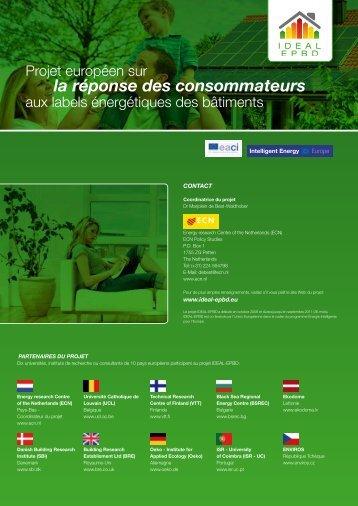la réponse des consommateurs - Ideal-EPBD