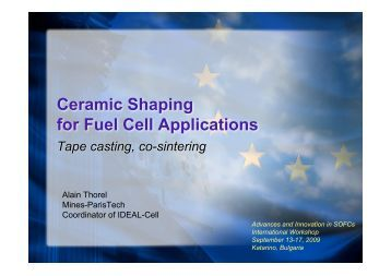 Shaping training course - IDEAL Cell