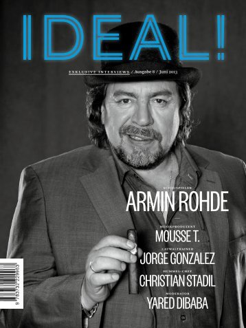 PDF Download Ausgabe 08/13 - IDEAL! Interview Magazin