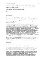 energiatehokkuuden parantaminen eu-maiden ... - Ideal-EPBD