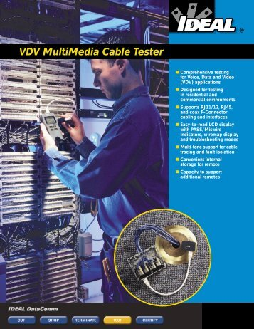 VDV MultiMedia Cable Tester - Ideal Industries Inc.