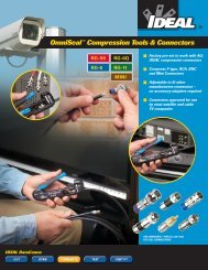 OmniSeal™ Compression Tools & Connectors - Ideal Industries Inc.