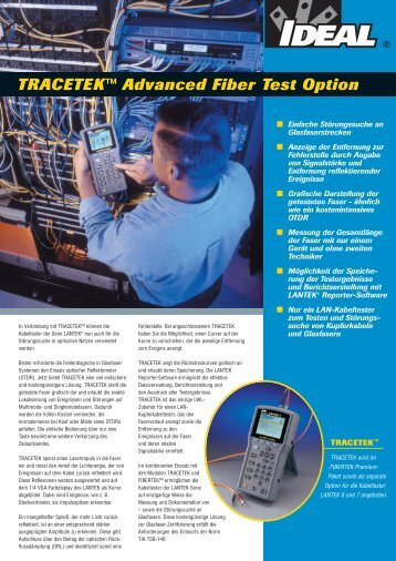 TRACETEK™ Advanced Fiber Test Option - Ideal Industries Inc.