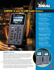 Lantek 6 and 7g lan cable testers - Ideal Industries Inc.