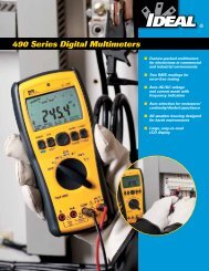 490 Series Digital Multimeters Brochure - Ideal Industries Inc.