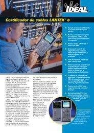 Certificador de cables LANTEK® 6 - Ideal Industries Inc.