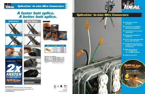 SpliceLine™ In-Line Wire Connectors Brochure - Ideal Industries Inc.