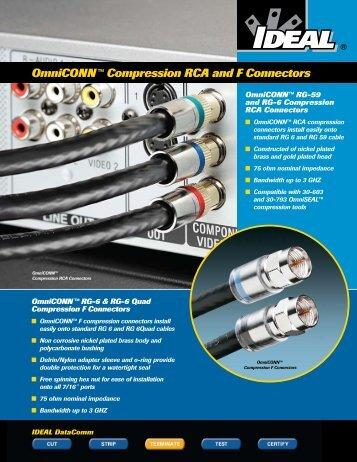 OmniCONN™ Compression RCA and F Connectors - Leff Electric