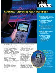 FIBERTEK™ Brochure - Ideal Industries Inc.