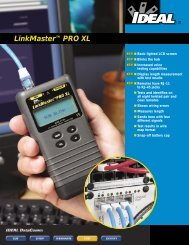 LinkMaster™ PRO XL Brochure - Ideal Industries Inc.