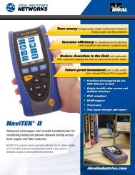 NaviTEK® II - Active LAN Tester Brochure - Ideal Industries Inc.