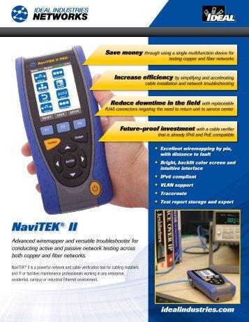 NaviTEK® II - Active LAN Tester Brochure - Ideal Industries Inc.