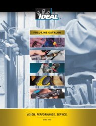 VISION. PERFORMANCE. SERVICE. - Ideal Industries Inc.