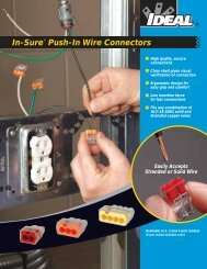 In-Sure™ Push-In Wire Connectors Brochure - Ideal Industries Inc.