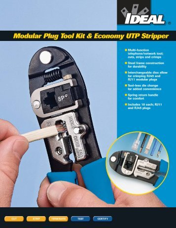 Modular Plug Tool Kit & Economy UTP Stripper - Ideal Industries Inc.