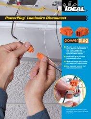 PowerPlug™ Luminaire Disconnect - Ideal Industries Inc.