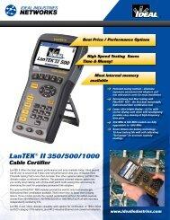 LanTEK® II Series Cable Certifier Brochure - Ideal Industries Inc.