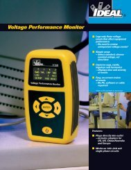 61-830 Voltage Performance Monitor Brochure - Ideal Industries Inc.