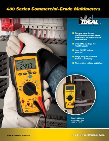 480 Series Commercial-Grade Multimeters - Ideal Industries Inc.