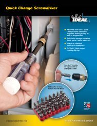 Quick Change Screwdriver Brochure - Ideal Industries Inc.