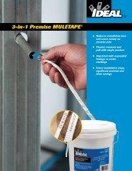 3-in-1 Premise MULETAPE® Brochure - Ideal Industries Inc.