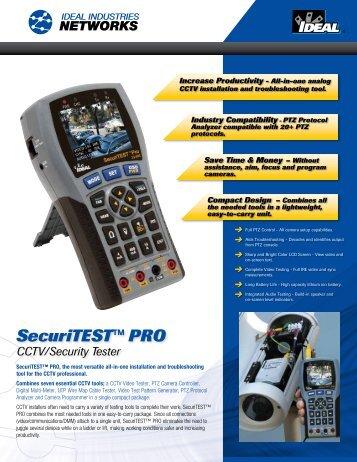 SecuriTEST™ PRO CCTV/Security Tester - Ideal Industries Inc.