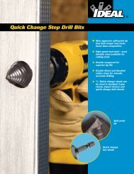 Quick Change Step Drill Bits Brochure - Ideal Industries Inc.