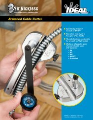 Sir Nickless™ Armored Cable Cutter Brochure - Ideal Industries Inc.