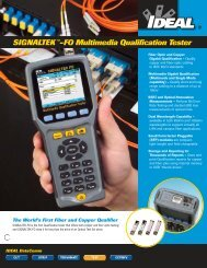 SIGNALTEK™-FO Multimedia Brochure - Ideal Industries Inc.