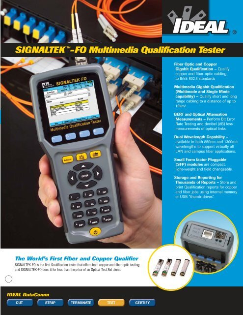 SIGNALTEK™-FO Multimedia Brochure - Ideal Industries Inc.