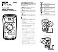 #61-602 Model 602 Digital Multimeter Operating Instructions