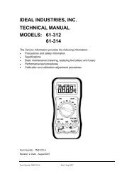 61-312 Resi-Pro™ Multimeter Manual - Ideal Industries Inc.