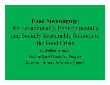 Food Sovereignty: An Economically, Environmentally and ... - ideals