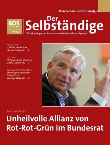 Unheilvolle Allianz von Rot-Rot-Grün im Bundesrat - Bund der ...