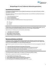 Beispielaufgaben für die schriftliche MFA-Abschlussprüfung