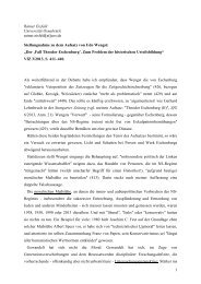 Stellungnahme von Rainer Eisfeld