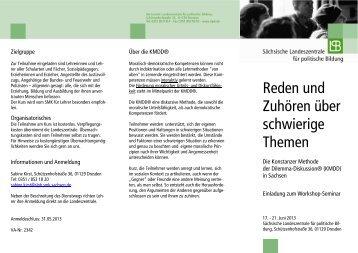 Faltblatt - Bildung