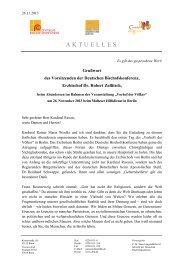 Grußwort von Erzbischof Dr. Robert Zollitsch - Deutsche ...
