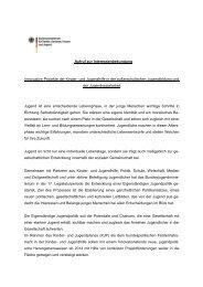 Aufruf zur Interessenbekundung Innovative Projekte der Kinder- und ...
